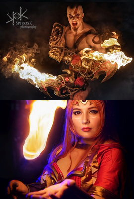 Fire Photoshoots with Leobane and Daraya Cosplay, from Fotocon 2017