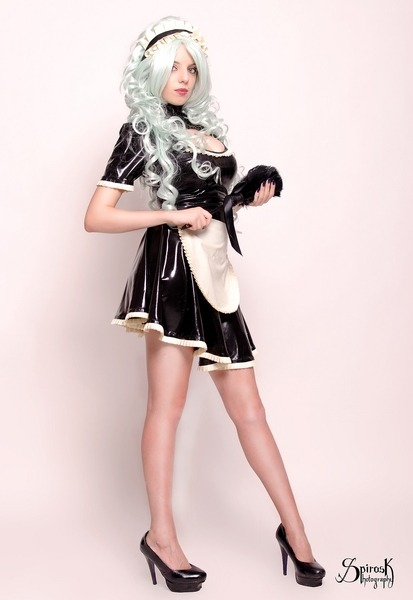 Latex Maid, with Absinthia Stacy